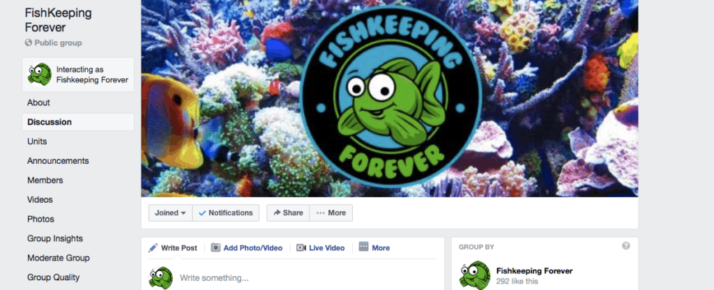 facebook group fishkeeping forever