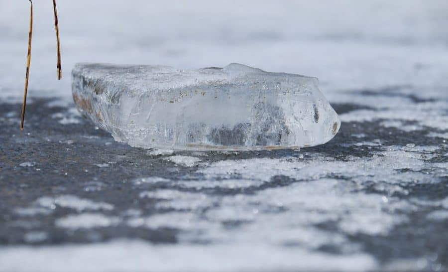 ice on a frozen pond